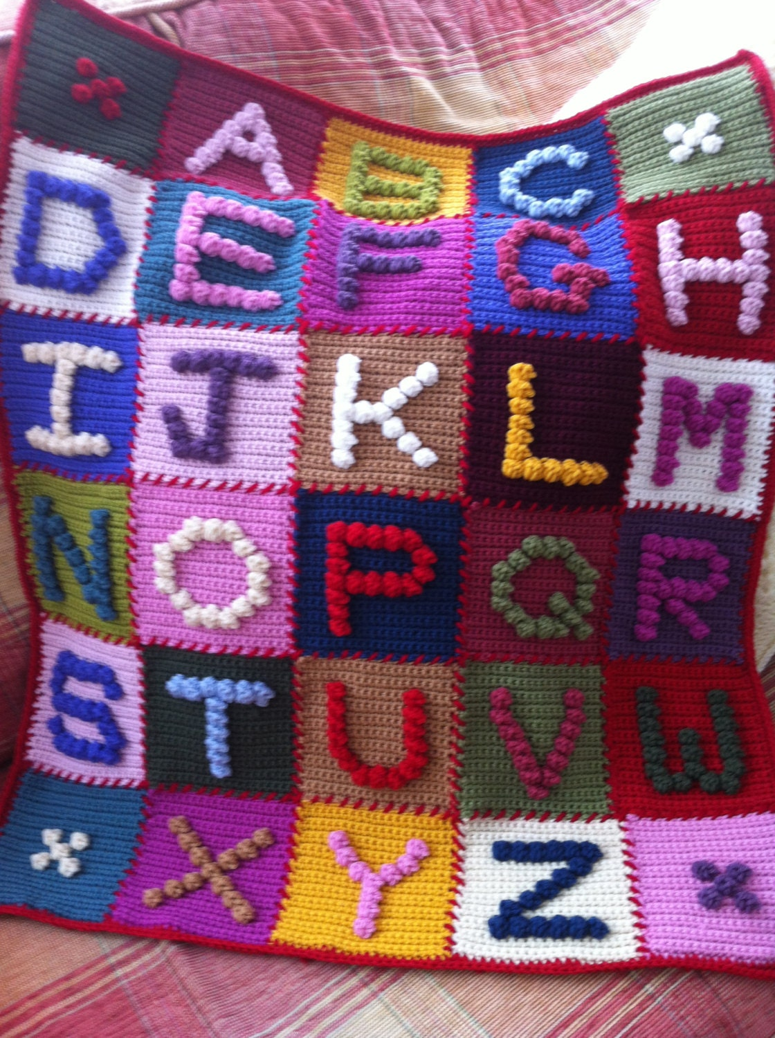 Crocheting Letters Into Blankets : CROCHET BOBBLES Pattern ALPHABET Book by CrochetBobbles