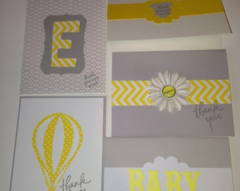 12  Baby Shower Handmade Thank You cards