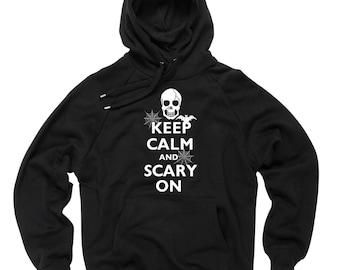 Halloween Hoodie Keep calm and scary on Sweatshirt Halloween Costume Sweater