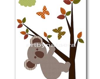 Koala Nursery Print Baby Nursery Printable Digital Baby Art Print Digital Download Print 8x10 11X14 kids INSTANT DOWNLOAD Wall Art