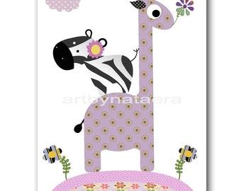 Giraffe Nursery Baby Girl Nursery Art Baby Nursery Printable Digital Kids Digital Art Baby Print Download 8x10 11X14 INSTANT DOWNLOAD art