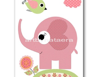 INSTANT Elephant DOWNLOAD Print Baby Nursery Decor Nursery Digital Print Baby Girl Nursery Art Printable Art Digital Download Art 8x10 11X14