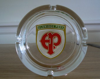 Eldridge Pope Glass Ashtray. From a Brewery in Dorchester Dorset UK which closed in 2003, so a Real piece of History.