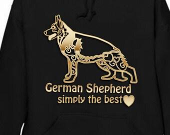 German sheperd , hoodie jumper custom made with any wordig , personalised