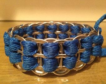 UPcycled aluminium ring pull bracelet