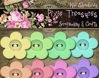 8 Flower Buttons