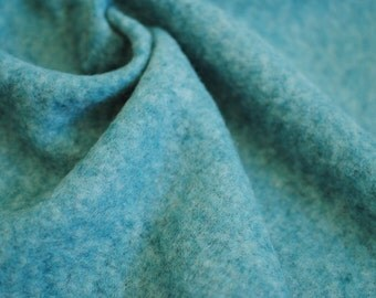 Japanese Fabric Fluffy Knit Fabric Teal Blue