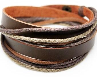 axy wrap bracelet TWIC6-8!  Leather Bracelet