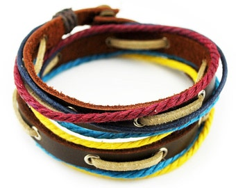 axy wrap bracelet TWIC11-4!  Leather Bracelet
