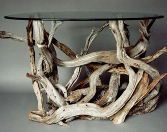 Small Driftwood Dining Table. Handmade From Reclaimed Driftwood.