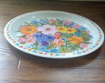 adorable vintage floral tray
