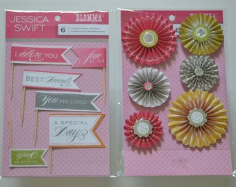 Jessica Swift, Blomma, 3D Stickers, Set of 2 PKGS.
