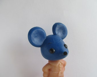 Vintage russian Mickey Mouse - Plastik toy - USSR era 70x