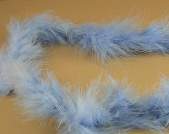 Light Blue Marabou FEATHERS Mini BOA Craft Decoration 14 grams - 2 Yards long