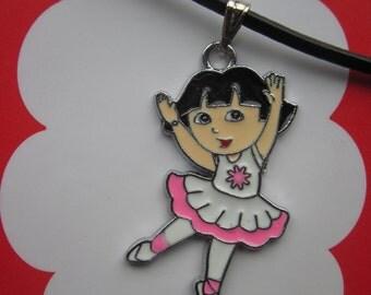 Dora ballerina necklace