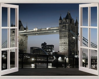 London Wall Decal Etsy - Window stickers for home uk