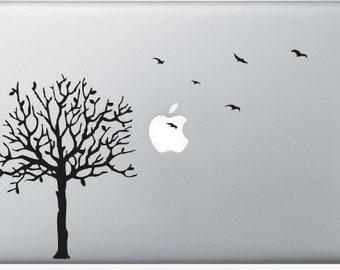 Sticker Macbook - Tree & Birds - Decal for MacBook Air Pro Retina - 11 12 13 15 or 17 inches - Skin for macbook easy to stick