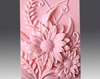 Flower Soap Mold Flower Silicone Mold Chocolate Mold Silicone Soap Mold Candle Mold Fancy Mold