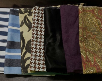 Set of Seven- 17in x 17in Upholstery fabric Squares-15A