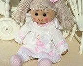 PERSONALISED Rag Doll - embroidered name on front, fairy or gingham girl options. Great Personalised Gift.