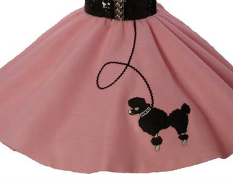 Light Pink 50's POODLE SKIRT for TODDLER 2T 3T 4T