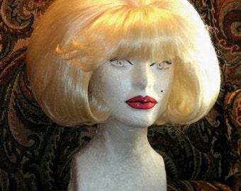 Audrey Little Shop of Horrors blonde blond bubble 1960s wig!