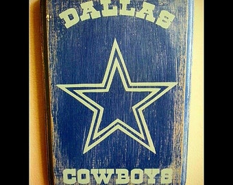 Dallas Cowboys Hand painted Wood Plaque