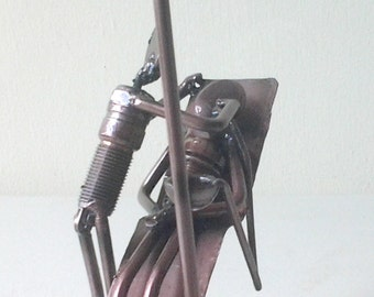Dentist figurine scrap metal art