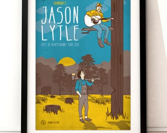 Official Jason Lytle (GRANDADDY) 'Dept. Of Disappearance Tour' Poster | A3 Digital Print