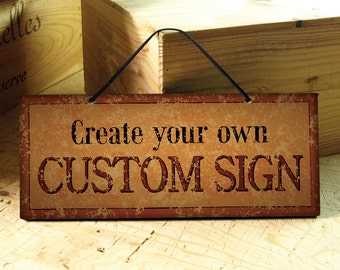 SIENA - Custom Signs in Burnt Orange, Yellow & Black. Restaurant Sign. Rustic Signs. Wine Bar Sign. Office Sign. Wedding Decor. Fathers Day
