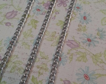 Silver Oxidated Aluminum Chain, about 3.5 wide, 6mm long
