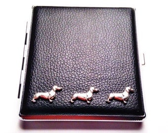 DACHSHUND Cigarette Case Black