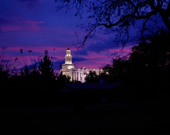 St George Utah LDS Temple Digital Download Photograph
