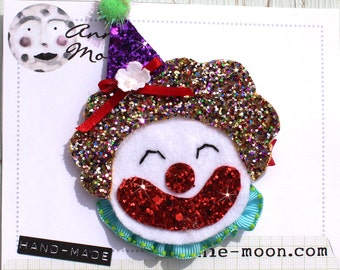 Sparkle Circus Clown Hair Clip