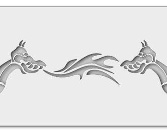 Stencil Chinese Dragon 0010