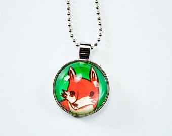 Woodland Jewelry - Fox Necklace - Red Fox Jewelry - Fox Animal Necklace - Fox Animal Jewelry - Woodland Animal Fox Pendant - Animal Pendant