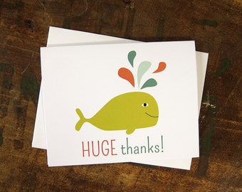 Thank You Card - Huge Thanks Whale