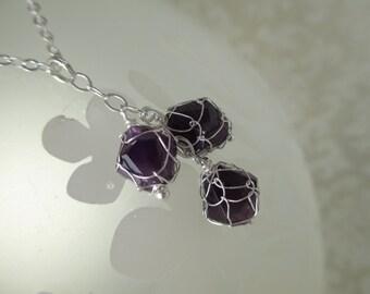 Amethyst Nautisk Triplet Pendant Necklace