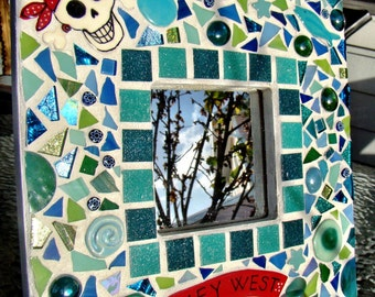 Made to order Pirate's of Key West Mosaic Mirror Handmade Ceramic tile Art One af a kind artist made