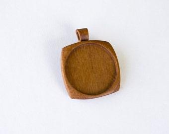 Large LIGHT pendant tray hardwood fine finished - Mahogany - 38 mm cavity - (F0c-M)