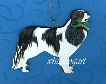 Handpainted Tri-Colored Cavalier King Charles Ornament