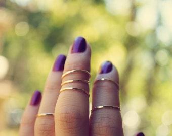 mini gold stackers - 14k gold fill midi ring set. knuckle rings. stackable rings. midi ring set. dainty gold rings