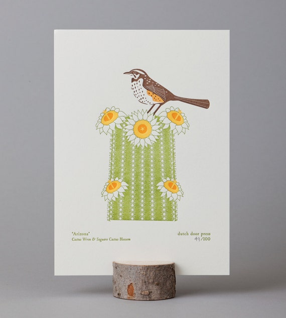 arizona (from birds and blooms of the 50 states)