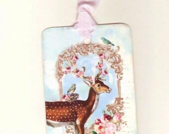 Christmas  Gift Tags , Christmas Deer Tags , Holiday Tags , Woodland Christmas , Shabby Christmas , Noel  Gift Tags