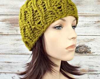 Knit Hat Green Womens Hat Mens Hat - Amsterdam Beanie in Lemongrass Green Knit Hat - Green Hat Green Beanie Womens Accessories Winter Hat