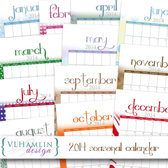 ... Monthly Calendar - 12 Month Portrait Calendar- 8.5 inch x 11 inch