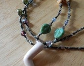 SALE - Doll Arm and Trilobite Beads Necklace