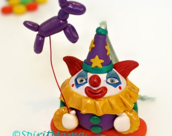 SALE! Creepy Cute Clown Ornament OOAK Halloween Christmas Holiday Tree Decoration