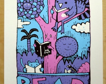 READ silk screen print