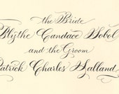 Custom for Blythe: Wedding Heirloom Marriage Certificate with Guest Signature Lines